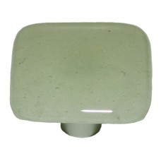 "Glow Pine Green Tint (Aqua Glow) Square Cabinet Knob (1-1/2"") by Aquila Art Glass"