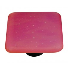 "Opaline Opaline Red Square Cabinet Knob (1-1/2"") by Aquila Art Glass"