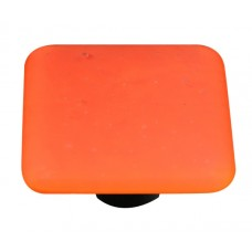 "Opaline Opaline Orange Square Cabinet Knob (1-1/2"") by Aquila Art Glass"