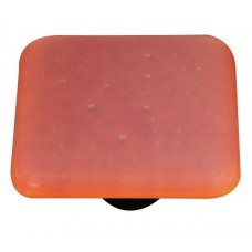 "Opaline Opaline Burnt Orange Square Cabinet Knob (1-1/2"") by Aquila Art Glass"