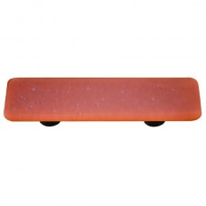 "Opaline Opaline Burnt Orange Rectangle Drawer Pull (3"" cc) by Aquila Art Glass"