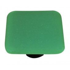 "Opaline Opaline Jade Green Square Cabinet Knob (1-1/2"") by Aquila Art Glass"