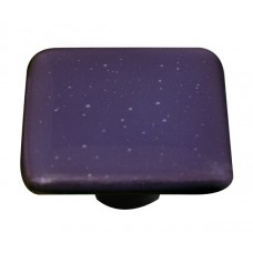 "Opaline Opaline Black Square Cabinet Knob (1-1/2"") by Aquila Art Glass"