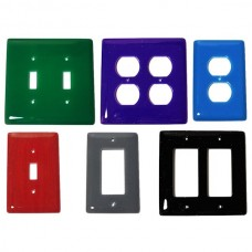 Solid Colors Glass Switch Plate (Various Colors - Various Layouts) by Aquila Art Glass