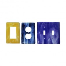 Swirl Colors Glass Switch Plate (Various Colors - Various Layouts) by Aquila Art Glass