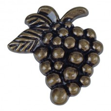 "Vineyard Grapes Cabinet Knob (2"") - Burnished Bronze (2173-BB) by Atlas Homewares"
