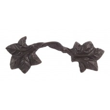 "Vineyard Leaf Drawer Pull (3"" CTC) - Aged Bronze (2202-O) by Atlas Homewares"