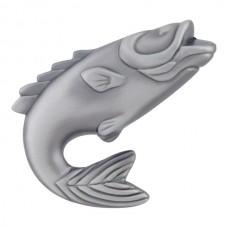 "Fish Cabinet Knob (2-1/4"") - Pewter (2204-NO) by Atlas Homewares"