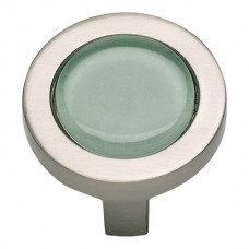 "Spa Green Round Cabinet Knob (1-1/4"") - Brushed Nickel (229-GR-BRN) by Atlas Homewares"