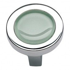 "Spa Green Round Cabinet Knob (1-1/4"") - Polished Chrome (229-GR-CH) by Atlas Homewares"