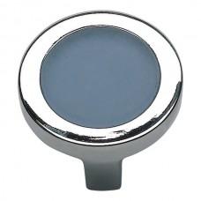 "Spa Blue Square Cabinet Knob (1-3/8"") - Brushed Nickel (230-BLU-BRN) by Atlas Homewares"