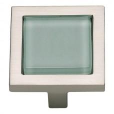 "Spa Green Square Cabinet Knob (1-3/8"") - Brushed Nickel (230-GR-BRN) by Atlas Homewares"