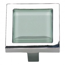 "Spa Green Square Cabinet Knob (1-3/8"") - Polished Chrome (230-GR-CH) by Atlas Homewares"