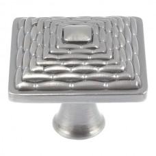 "Mandalay Square Cabinet Knob (1-1/4"") - Brushed Nickel (237-BRN) by Atlas Homewares"
