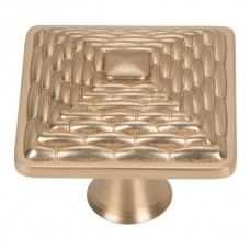 "Mandalay Square Cabinet Knob (1-1/4"") - Champagne (237-CM) by Atlas Homewares"