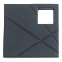 Modernist Left Square Cabinet Knob (1-1/2) - Matte Black (251L-BL) by Atlas Homewares