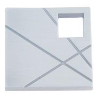 Modernist Left Square Cabinet Knob (1-1/2) - Brushed Nickel (251L-BRN) by Atlas Homewares