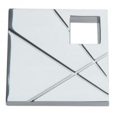 Modernist Left Square Cabinet Knob (1-1/2) - Polished Chrome (251L-CH) by Atlas Homewares