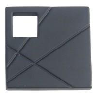 Modernist Right Square Cabinet Knob (1-1/2) - Matte Black (251R-BL) by Atlas Homewares
