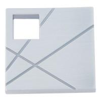 Modernist Right Square Cabinet Knob (1-1/2) - Brushed Nickel (251R-BRN) by Atlas Homewares