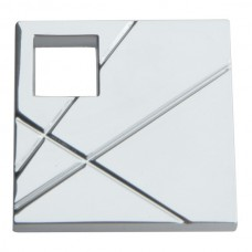 Modernist Right Square Cabinet Knob (1-1/2) - Polished Chrome (251R-CH) by Atlas Homewares