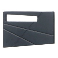 Modernist Left Cabinet Knob (1-3/4) - Matte Black (252L-BL) by Atlas Homewares