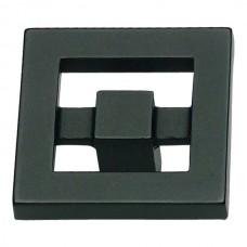 "Nobu Square Cabinet Knob (1-3/8"") - Matte Black (260-BL) by Atlas Homewares"
