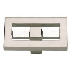 "Nobu Rectangle Cabinet Knob (1-3/4"") - Brushed Nickel (261-BRN) by Atlas Homewares"