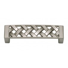 "Lattice Drawer Pull (3"" cc) - Brushed Nickel (310-BRN) by Atlas Homewares"