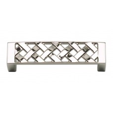 "Lattice Drawer Pull (3"" cc) - Polished Nickel (310-PN) by Atlas Homewares"