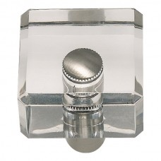 "Optimism Square Cabinet Knob (1-1/4"") - Brushed Nickel (3145-BRN) by Atlas Homewares"