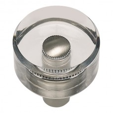 "Optimism Round Cabinet Knob (1-3/16"") - Brushed Nickel (3146-BRN) by Atlas Homewares"