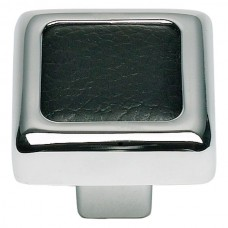 "Paradigm Square Cabinet Knob (1-1/4"") - Polished Chrome/Matte Black (3149-BL) by Atlas Homewares"