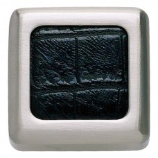 "Paradigm Square Cabinet Knob (1-1/4"") - Brushed Nickel/Black Crocodile (3149-BN-CRC) by Atlas Homewares"