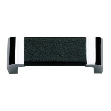 "Paradigm Drawer Pull (3"" cc) - Polished Chrome/Black (3150-BL) by Atlas Homewares"