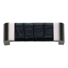 "Paradigm Drawer Pull (3"" cc) - Brushed Nickel/Black Crocodile (3150-BN-CRC) by Atlas Homewares"