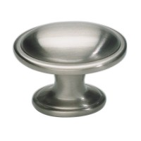 Austen Oval Cabinet Knob (1-5/16) - Brushed Nickel (316-BRN) by Atlas Homewares