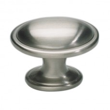 "Austen Oval Cabinet Knob (1-5/16"") - Brushed Nickel (316-BRN) by Atlas Homewares"