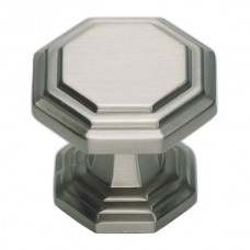 "Dickinson Octagon Cabinet Knob (1-1/4"") - Brushed Nickel (319-BRN) by Atlas Homewares"