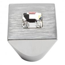 Crystal Square Cabinet Knob (1) - Matte Chrome (3195-MC) by Atlas Homewares