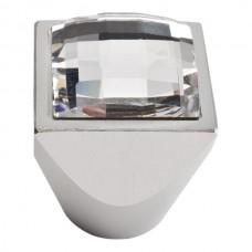Crystal Large Square Cabinet Knob (1) - Matte Chrome (3196-MC) by Atlas Homewares