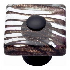 "Milky Way Glass Square Cabinet Knob (1-1/2"") - Aged Bronze (3205-O) by Atlas Homewares"