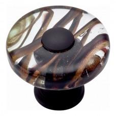 "Milky Way Glass Round Cabinet Knob (1-1/2"") - Aged Bronze (3206-O) by Atlas Homewares"