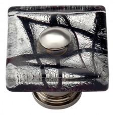 "Eclipse Glass Square Cabinet Knob (1-1/2"") - Polished Chrome (3207-CH) by Atlas Homewares"