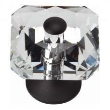 Crystal Large Square Cabinet Knob (1-1/2) - Matte Black (3209-BL) by Atlas Homewares