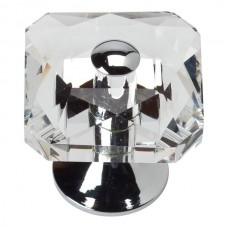 """Crystal Large Square Cabinet Knob (1-1/2"""") - Polished Chrome (3209-CH) by Atlas Homewares"""