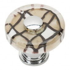 "Viceroy Glass Round Cabinet Knob (1-1/2"") - Polished Chrome (3222-CH) by Atlas Homewares"