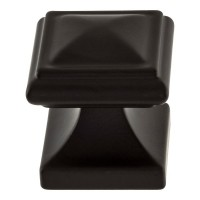 Wadsworth Cabinet Knob (1-1/4) - Matte Black (370-BL) by Atlas Homewares