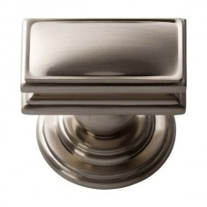 "Campaign Rectangle Cabinet Knob (1-1/2"") - Brushed Nickel (377-BRN) by Atlas Homewares"