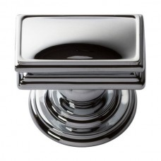 "Campaign Rectangle Cabinet Knob (1-1/2"") - Polished Chrome (377-CH) by Atlas Homewares"
